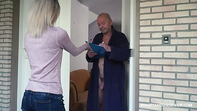 Too naughty orientation haired Hungarian girl Missy Luv rides strong cock of old man
