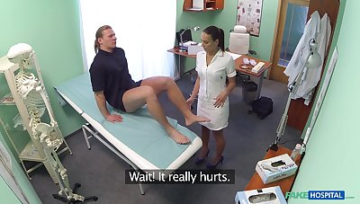 Patient with big dick gets full flock exam by hot vigilance Mea Melone