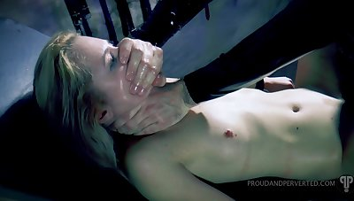 Gagged hottie gets punished unconnected with bestial fucked in all holes unreliably jizzed
