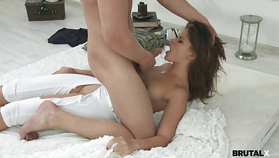 Erotic sex on the wainscoting with cum loving Russian girlfriend Emma Brown