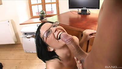 Secretary bends for cock in stupendous hardcore office tryout