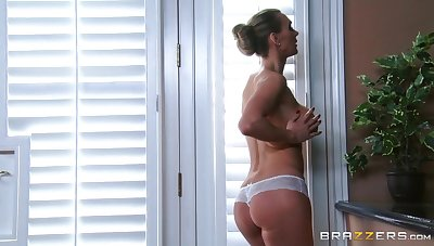 Boring fucking on the knead table ends with cum in mouth for Tanya Tate