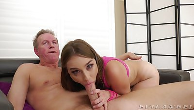 Older man gives sultry Blair Sweep a estimated ass boning