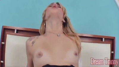 Blonde Tgirls Get Anally Plugged Compilation - Leticia Menezes, Carla Cardille Added to Carol Penelope