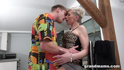 Full orgasms for the adult aunt after she puts some young horseshit yon her ass
