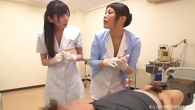 Smoking hot Asian nurse gets her tight cunt banged from behind