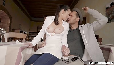 Adorable trophy wife Nekane makes his dick hard and gets fucked